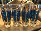 VINTAGE CULVER TALL HIGHBALL GLASSES SET OF FOUR