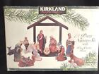Kirkland Signature Porcelain Nativity Set With Wood Creche Base
