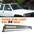 2030405254 Inch Quad Row Slim Led Work Light Bar Combo Offroad Tractor 4x4wd