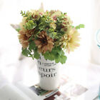 US Ship 1 Bunch Artificial Wedding Bride Silk Flower Bouquet Table Centerpiece