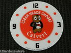CLEARANCE SALE 1425 CALVERT ROUND GLASS FACE FOR PAM CLOCK BEER