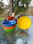 set 4 -14 OZ DIP CEREAL FRUIT small BOWL poppy daffodil shamrock FIESTA WARE new