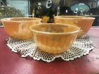 Fire King Peach Luster Luster Mixing Nesting Bowl Swirl Set 7