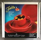 FIESTA WARE SCARLET RED 5 PC PLACE SETTING NEW IN BOX