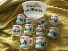 Vintage Egg Nog Punch Bowl Tom and Jerry 10 cups