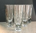 Rare Vintage Italian Carlo Moretti Weighted Tall Glasses Barware Marked