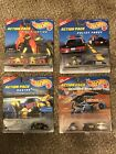 Hot Wheels Action Pack Lot Of 4 Police Force Fire Fighting Racing Mars Rover