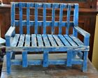 Childs Vintage Bench in old Original Blue Paint *