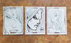 Red Sonja 45th Anniversary Set of 3 Sketch Cards by Haeser DelBeato