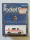 Vintage Tomy Pocket Cars Chevrolet Ambulance Van 143 F22 NIP Sealed 1974