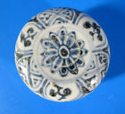 Ming Wanli Period Blue White Incense Make-up Box Cover Porcelain Buddhist NR yqz