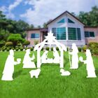 Large Christmas Outdoor Nativity Scene Yard Nativity Set