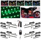12pcs Motorcycle Body/Engine Led Strip Lighting Kit 72LEDs w 12 Way Splitters