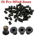 50 Pcs M5x0.8mm Fixed Nuts for Motorcycle Fairings, Body Parts, Fenders,Bumpers