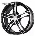 17 inch gloss black Verde V36 Protocol rims fits Cadillac CTS Deville 5x115 +40