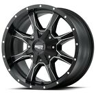 17 Inch Satin Black Wheels Rims Chevy 5 Lug Truck LIFTED Jeep Wrangler JK 17x9 4