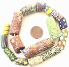 Assorted Old Rare Antique Venetian glass African trade beads Ghana