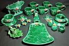 Vintage Lefton Holly Berry Green 20 pc Beautiful Assortment