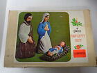 Vintage Empire 4 Piece Nativity Set 18 Illuminated Lighted Blow Mold Decor Box