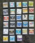 28 Games Lot:Nintendo DS Cartridge-Soduko Shawn Johnson Tiger Woods Brain Atari