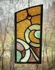 Architectural Salvage Leaded Church Stained Glass Amber Green Maroon Jewel