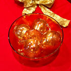 Jeanette Amber Egg Nog Punch Bowl with 8 Cups