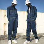 Mens Vintage Corduroy Loose Casual Overall Jumpsuit Dungarees Jacket Cargo Pants