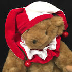 Vermont Teddy Bear Jester 1992 Jointed Sandy Brown 18