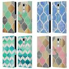 OFFICIAL MICKLYN LE FEUVRE QUATREFOIL 2 LEATHER BOOK WALLET CASE FOR LG PHONES 2