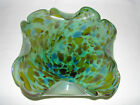 Vintage Green Pattern Case Glass Fancy candy Dish 8