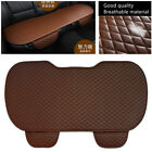 1 Pcs Brown Coffee Color Leather Car Rear Seat Cover Mat with Storage Pocket