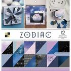 Double Sided Cardstock Stack 12 x 12 36 Pkg Zodiac 12 W Holographic Foil Dcwv