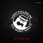 Jeep Vinyl Decal Funny Car Truck Sticker Dont Follow Me Off-road Crawling 534
