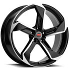 4 Revolution Racing R20 18x8 5x1143 5x45 +40mm Black Machined Wheels Rims