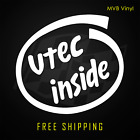 Vtech Inside Vinyl Decal Funny Car Truck Sticker Jdm Intel Parody Racing