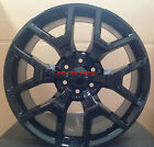 20 GMC Sierra OE Replica Wheels Gloss Black Rims Silverado Yukon Denali Chevy