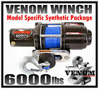 6000LB VENOM UTV WINCH 14-19 POLARIS RZR/RZR 4/GENERAL 900/1000/TURBO RXR RAZOR