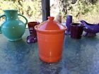 fiestaware FIESTA WARE SMALL CANISTER LID persimmon orange NEW