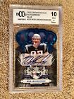 "ROB GRONKOWSKI RC 2010 CROWN ROYALE BLUE""BECKETT 10"" AUTOGRAPH PATRIOTS 35 50"