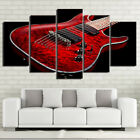 Red Electric Guitar Musical Instrument 5 Panel Canvas Print Wall Art Home Decor