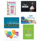 Lively Birthday Blank Greeting Note Card Assortment Pack with Envelopes