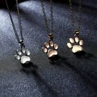 Cute Cat Dog Paw Animals footprint Necklace Pendant Family Love Jewelry Charm