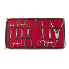 Piercing tool Kit with essential tools to pierce with case Surgical Steel