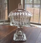 Vintage Jeannette Glass Wedding Box with Gold Trim
