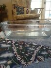 Vintage Fire King Glass Blue Sapphire Philbe Blue Glass Meat Loaf Bread Pan 9x5