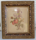 Antique Victorian Deep Well Eastlake Gold Gesso Picture Frame  14x12 1.75