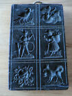 Rare antique German wax mold shows 6 lovely motifs to make Springerle cookies