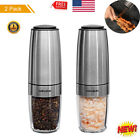 Salt and Pepper Grinders 2 in 1 Adjustable Shaker Set Mill Glass Stainless Steel