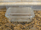 Vintage Clear Glass Refrigerator Dish w/ Lid Unkown Maker