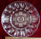 Vintage Glass Anchor Hocking Round Egg and Relish Plate Dish